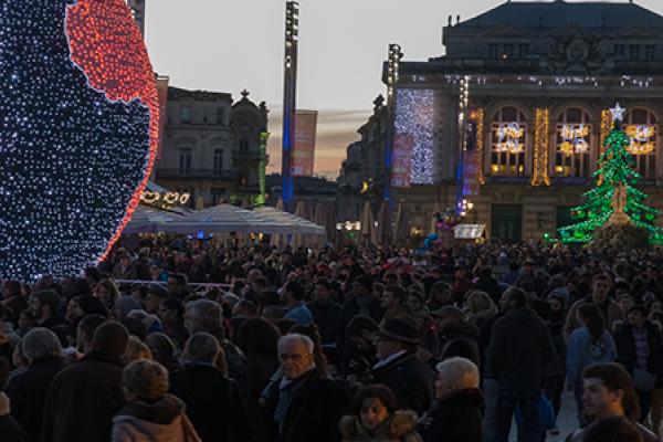 Noël, Place de la Comédie, Montpellier