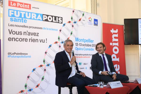 Philippe Saurel lors de la conférence de presse sur Futurapolis 2018
