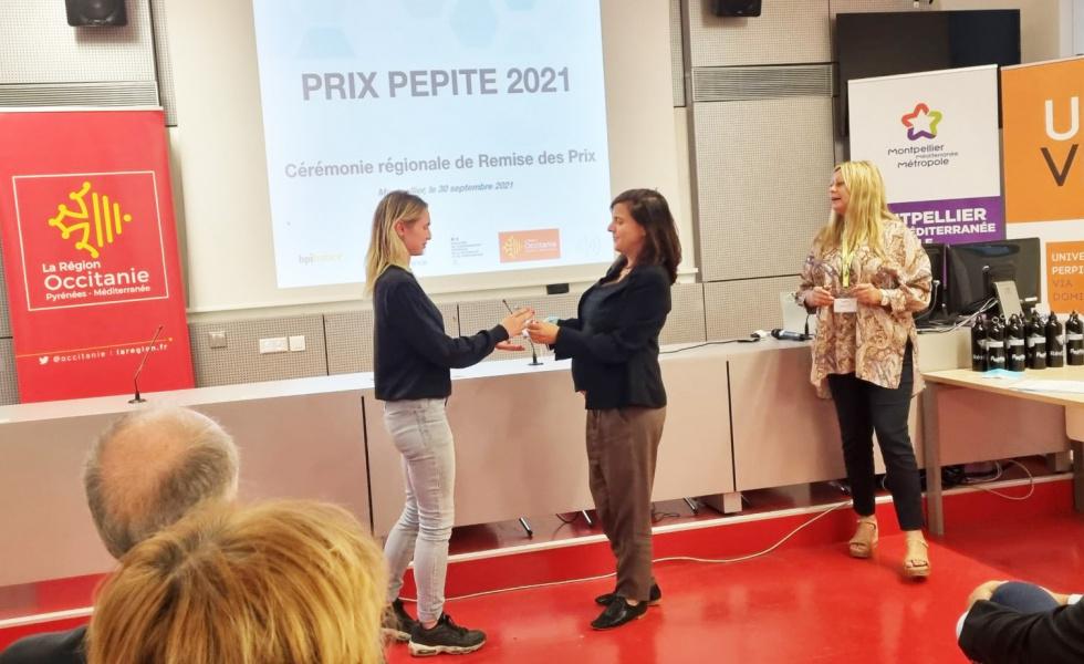 Remise des prix Pépite LR 2021 avec Pimp'Up la championne régionale @pepite lr